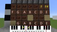 我的世界红石钢琴可以演奏《凉凉》by明月庄主红石日记