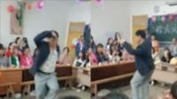 """为给高三学生解压 老师晚会上大跳""""霹雳舞"""""""