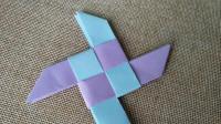 【折纸实拍】这种飞镖折起来简单, 拼接有点难, 附上我的小技巧吧!