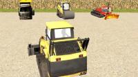 挖掘机视频表演大全挖掘机玩具视频 汽车总动员 赛车总动员 把平板车开到城市!