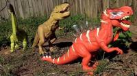 侏罗纪世界 恐龙世界 霸王龙 恐龙玩具视频4 恐龙总动员
