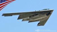 美国空军极其强大的B-2幽灵隐身战略轰炸机B-1B枪骑兵超音速战略轰炸机-在Dyess空军基地-飞行表演