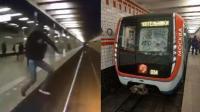 俄罗斯男子跳轨自杀 一头撞碎地铁挡风玻璃