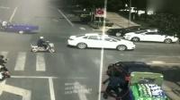 无人车闯红灯自动倒车 三轮车主被吓紧急跳车