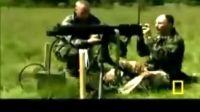 重型机枪砍树震撼视频