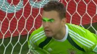 可恨的激光笔!14世界杯阿金费耶夫出击失误 俄罗斯痛失好局
