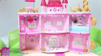 可以旋转组装的小城堡玩偶玩具 长发公主的立体城堡