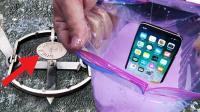 老外用非牛顿流体包裹手机放入捕兽夹, 网友: 我三星给你10倍!