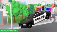神奇的机器把警车在几秒钟就改装成会飞会清障会挖掘的警车 家中的美国学校