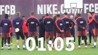 【黑豹足球】巴塞罗那备战联赛  皮克若有所思, 梅西苏牙脸色阴沉  队友苦等3分钟 (2)