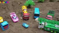 汽车和挖掘机玩具车试玩, 婴幼儿宝宝玩具游戏视频H307