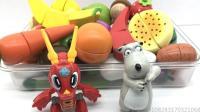 小龙侠和贝肯熊玩转切水果过家家