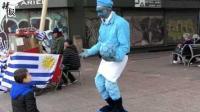 乌拉圭赛前: 铜像穿球衣 球迷这样评价国家队
