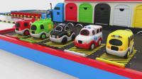 亮亮玩具搅拌车和汽车动画学习英语, 婴幼儿宝宝教育游戏视频1039