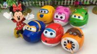 米琦喵妙屋玩超级飞机侠变形玩具蛋