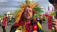 前方直击:巴西球迷造型辣眼 坦言内马尔率队3-0赢瑞士