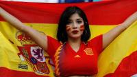 6月21日世界杯今日最性感:西班牙美女大眼迷人