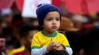 6月21日世界杯最萌小球迷:小球迷抢镜萌态十足