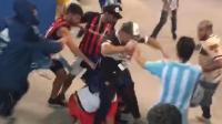 阿根廷球迷暴打克罗地亚球迷以发泄不满