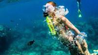 """什么原理? 带这""""饮料瓶""""可在水下呼吸10分钟, 能用打气筒充氧"""