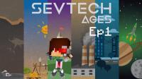 我的世界《SevTech: Ages 赛文科技多人模组生存Ep1 穴居生活》Minecraft 安逸菌解说