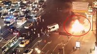 俄奔驰时速200撞车爆炸致6人死伤