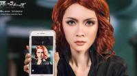 梳子仿妝系列|黑寡妇Scarlett Johansson