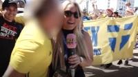 世界杯再曝性骚扰丑闻 !瑞典女记者惨遭本国球迷强吻!