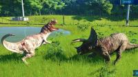 【虾米】侏罗纪世界进化EP4, 角鼻龙VS三角龙!