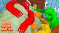 儿童学英语 金刚颜色照顾妈妈生病 手指家庭歌曲 教育视频 【 俊和他的玩具们 】