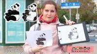 街头测试给大熊猫涂色, 结果五花八门, 超搞笑!