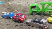 汽车和挖掘机玩具试玩, 婴幼儿宝宝玩具游戏视频S221