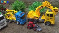 汽车和挖掘机玩具种树, 婴幼儿宝宝玩具游戏视频S202
