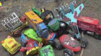 消防车发现汽车挖掘机玩具, 婴幼儿宝宝游戏视频H248