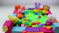 亲子手工diy之制作小猪佩奇的七彩糖果池