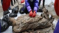 专家湖南挖出千年女尸, 开棺瞬间自己动了起来, 吓坏在场众人