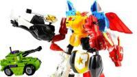 奥特曼和猪猪侠拆装变形金刚机器人玩具