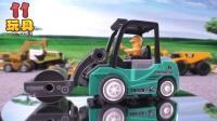 儿童益智玩具迷你压路机 工程车系列早教视频