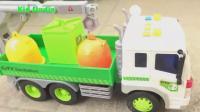 变形汽车和起重机玩具试玩, 婴幼儿宝宝玩具游戏视频 550