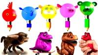 色彩铅笔动物英语足球游戏儿童英语色彩恐龙奇妙旅行色彩英语少儿英语ABC