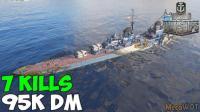 二战海战之战舰世界-苏系8级巡洋舰 恰巴耶夫 7杀输出95K