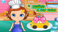 制作小汽车蛋糕游戏 制作小汽车蛋