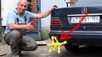 国外大叔奇葩玩法, 7只尖叫鸡装在汽车排气管上, 那叫声吓坏路人