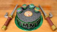 80后的回忆杀蛋糕: 忍者神龟从井盖里露出小脑袋, 就是为了吃这个