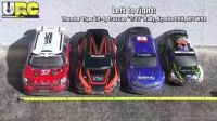 RC Rally car SIZE comparison - WR8, DRX, Traxxas, ER-4
