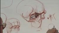 人體素描示範-01.頭部解剖素描(Head1)