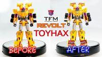 KL變形金剛玩具分享323 Toyhax TFM汽車合體 搶劫 升級貼紙