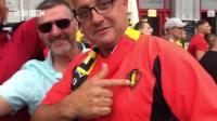 拍客世界杯: 足球团结人心! 比利时球迷用德语、荷兰语、法语一起唱国歌
