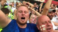 拍客世界杯: 2: 0领先, 看台上, 英格兰球迷开始唱歌啦