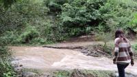 实拍甘肃农村大雨过后, 洪水气势汹汹, 好多年没见过, 看着吓人! #玩转世界杯#